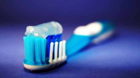 Tooth brush with toothpaste for oral hygiene